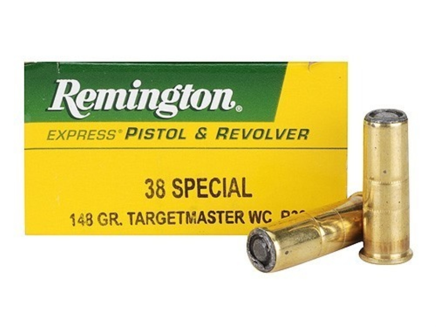 Remington Express Ammunition 38 Special 148 Grain Target Master Lead Wadcutter Box of 50