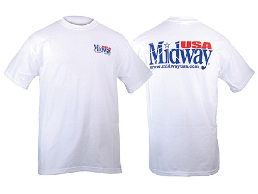 "MidwayUSA T-Shirt Short Sleeve Cotton White Large (44"")"