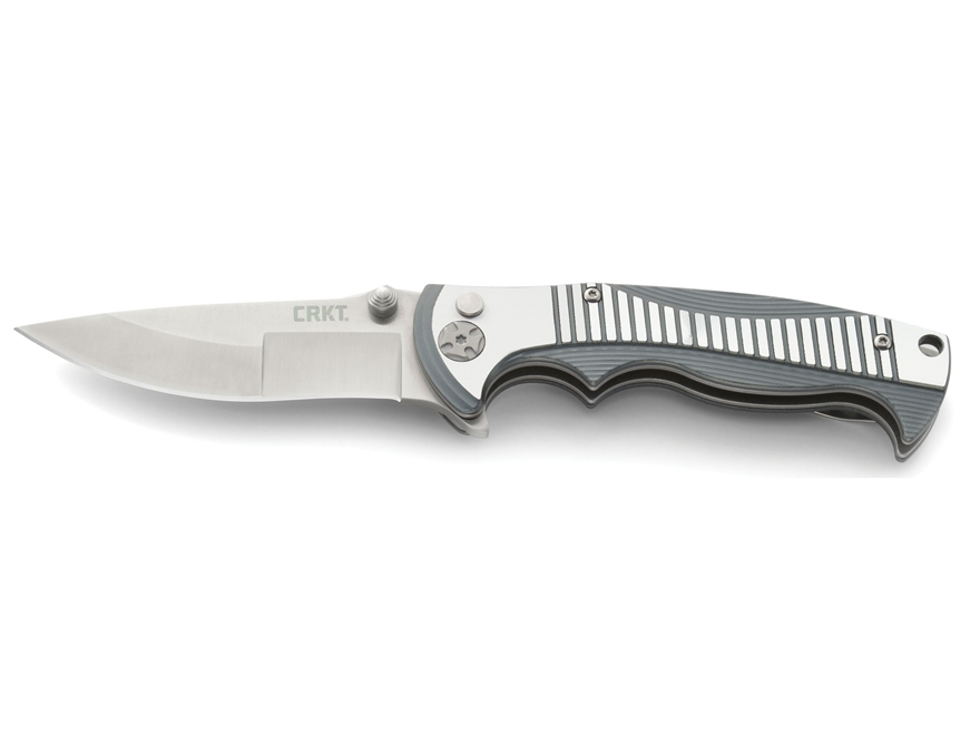 "CRKT Tighe Rage Folding Pocket Knife 3.38"" Drop Point 8Cr13MoV Blade 6061 T6 Aluminum H..."