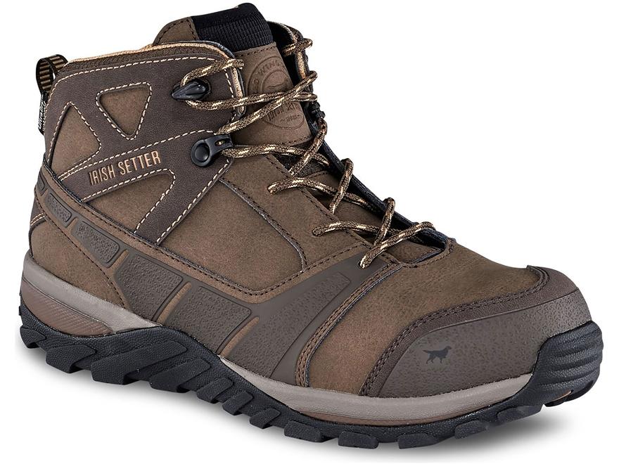 "Irish Setter Rockford 6"" Waterproof Non-Metallic Safety Toe Work Shoes Leather/Nylon Men's"