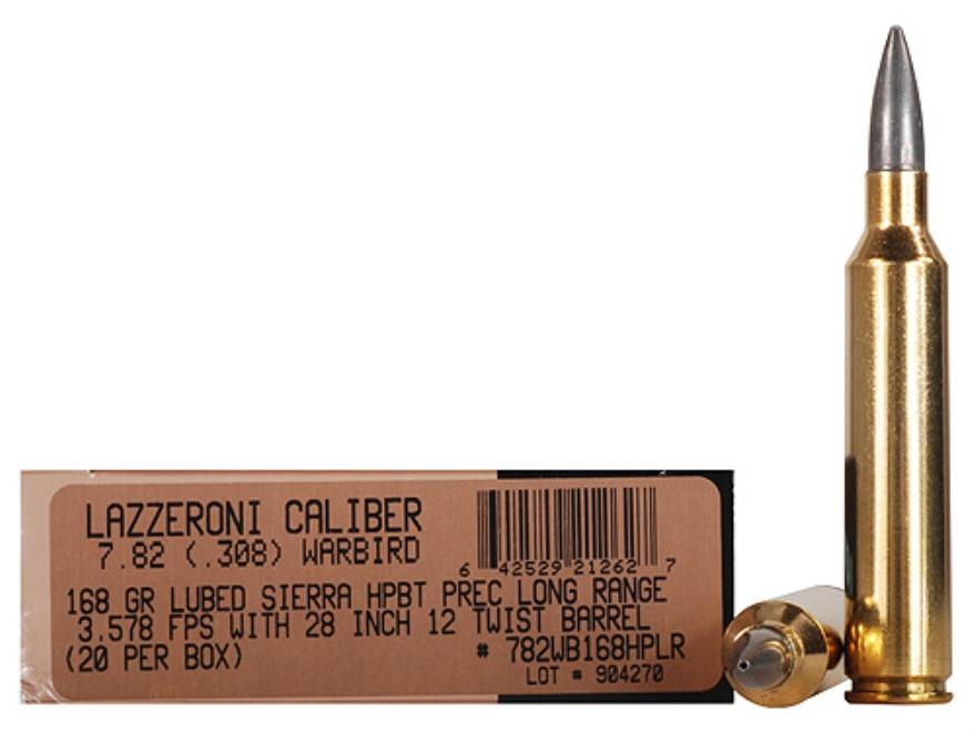 Lazzeroni Ammunition 7.82 Warbird 168 Grain Sierra MatchKing Hollow Point Boat Tail Box...