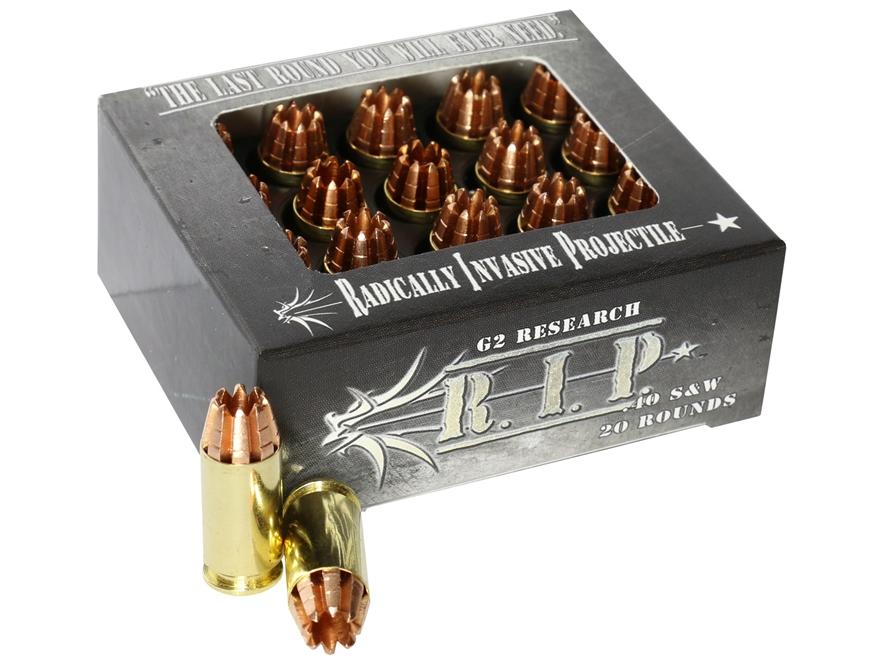 G2 Research R.I.P. Ammunition 40 S&W 115 Grain Radically Invasive Projectile Fragmentin...