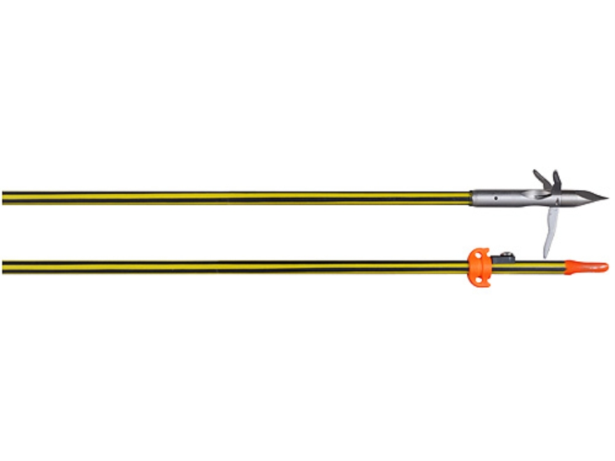AMS Carbon Spined Bowfishing Arrow with 3 Barb Grapple Point and Safety Slide