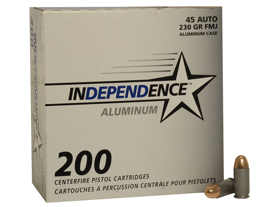 Independence Ammunition 45 ACP 230 Grain Full Metal Jacket