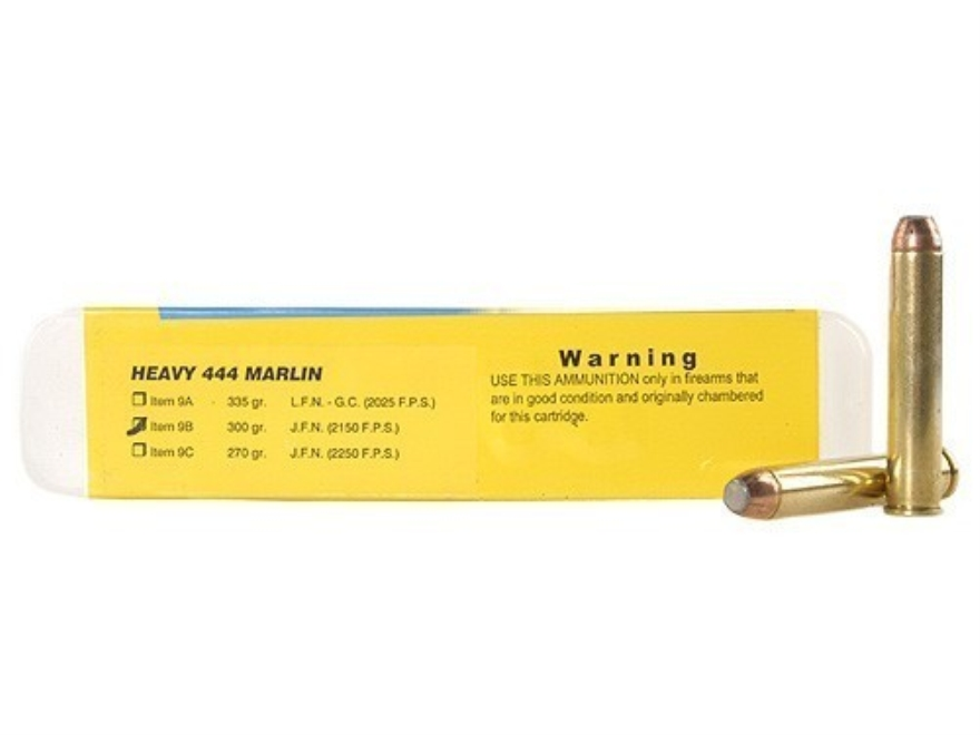 Buffalo Bore Ammunition 444 Marlin 300 Grain Jacketed Flat Nose Box of 20