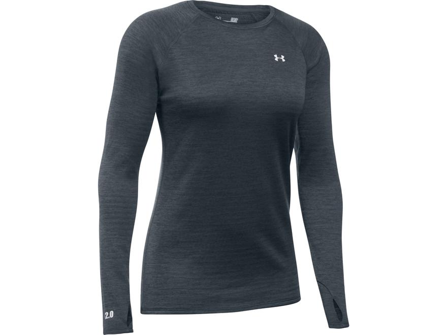 Under Armour Women's UA Base 2.0 Crew Base Layer Shirt Long Sleeve Polyester
