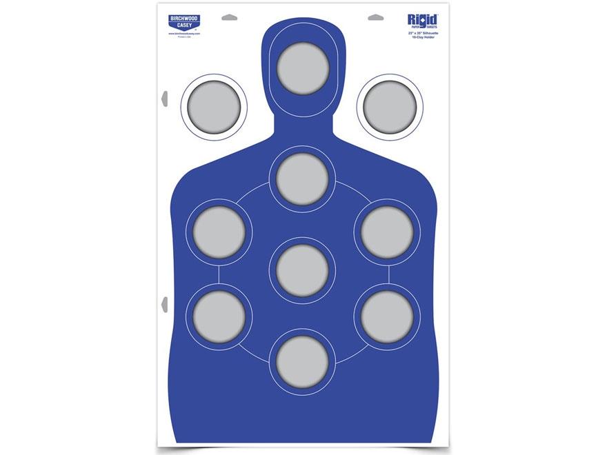 """Birchwood Casey Rigid Clay Target Corrugated Cardboard Silhouette 23"""" x 35"""""""