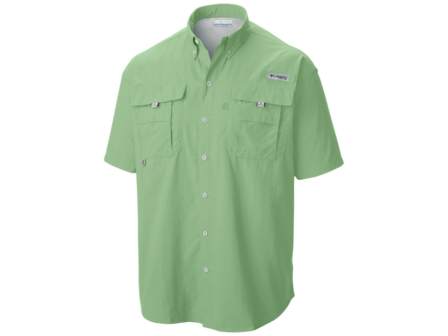 Columbia Men's PFG Bahama II Button-Up Shirt Short Sleeve Nylon