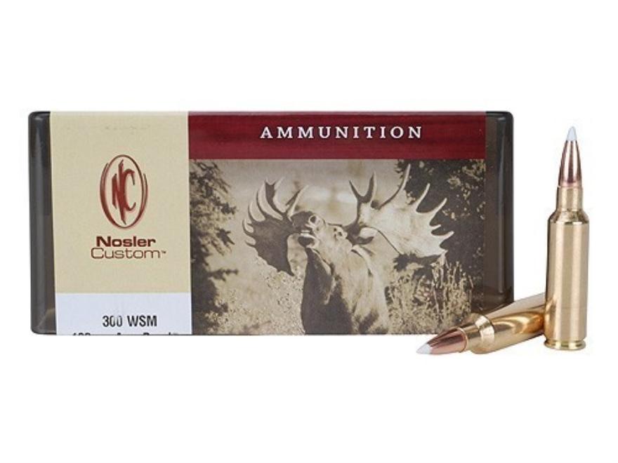 Nosler Custom Ammunition 300 Winchester Short Magnum (WSM) 180 Grain AccuBond Spitzer B...