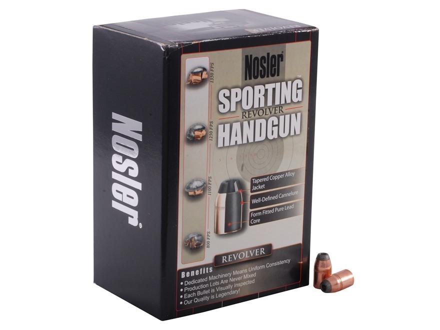 Nosler Sporting Handgun Bullets 38 Caliber (357 Diameter) 158 Grain Jacketed Hollow Poi...