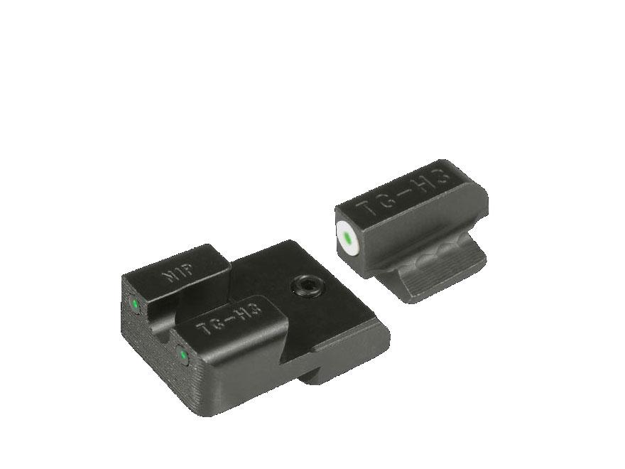TRUGLO Tritium Pro Sight Set 1911 Government 9mm, 40 S&W Novak Cut Tritium Green with W...