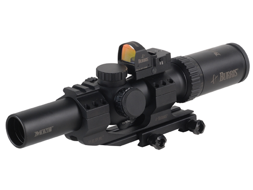 Burris MTAC Rifle Scope 30mm Tube 1-4x 24mm Illuminated Reticle with Fastfire III Red D...