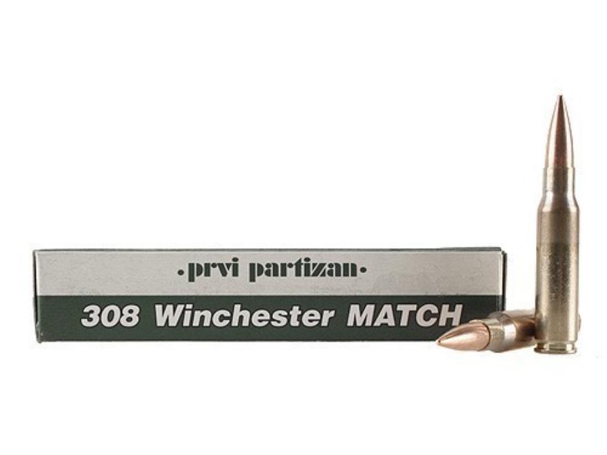 Prvi Partizan Match Ammunition 308 Winchester 175 Grain Full Metal Jacket