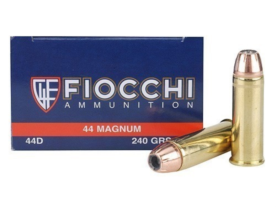 Fiocchi Shooting Dynamics Ammunition 44 Remington Magnum 240 Grain Jacketed Hollow Poin...