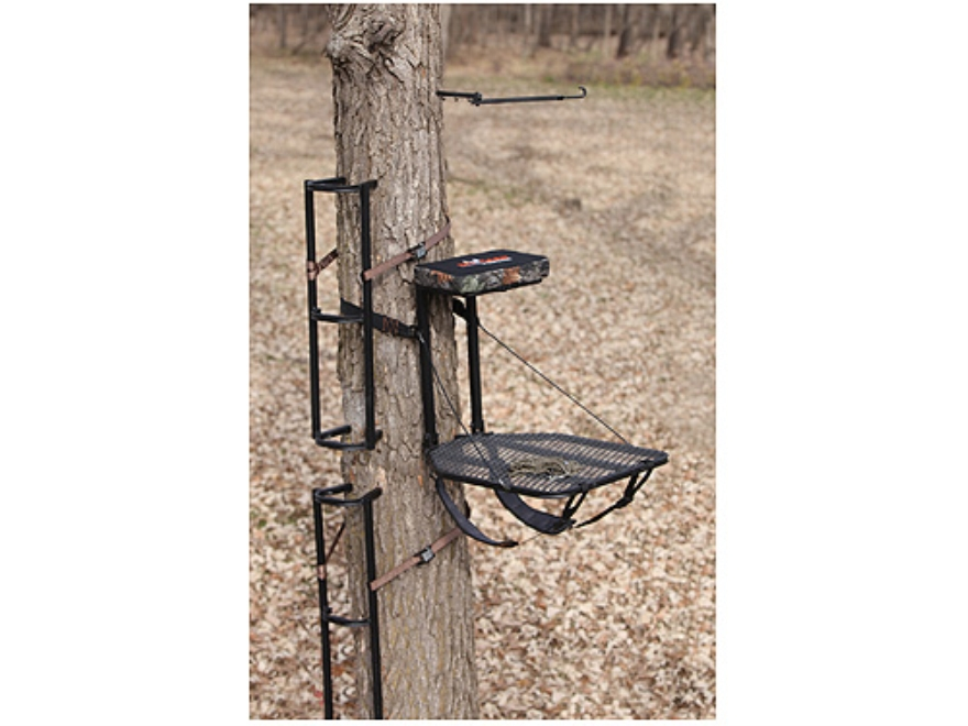 The Boss Lite Packable Combo Hang On Treestand Steel Black