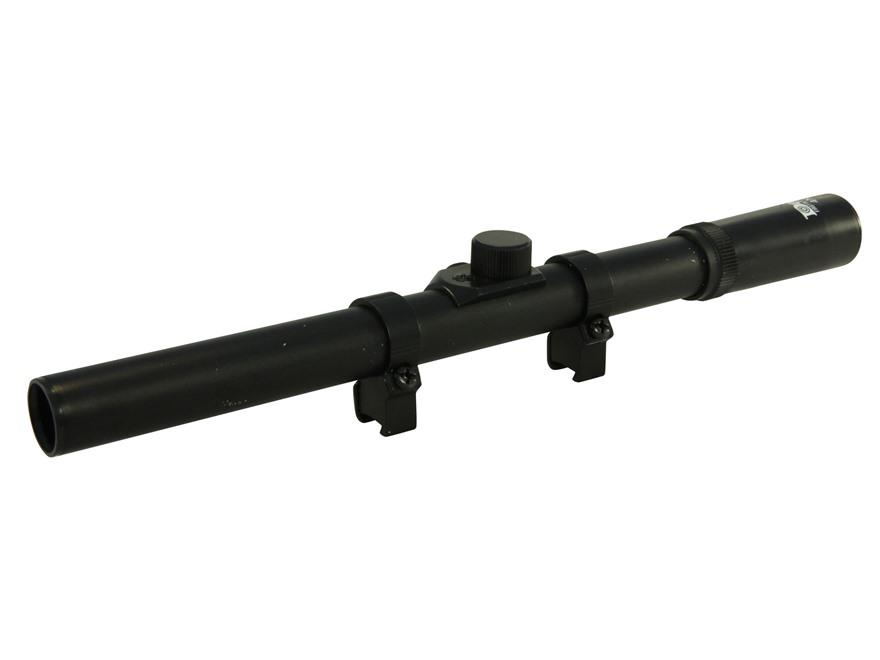 Daisy Powerline Air Gun Rifle Scope 4x 15mm Duplex Reticle Matte with Rings