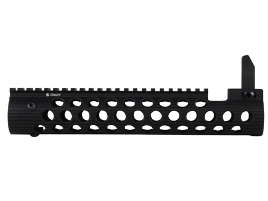 Troy Industries Alpha Battle Rail Modular Free Float Handguard with Integral Flip-Up Fr...