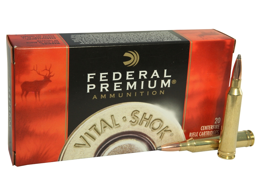 Federal Premium Vital-Shok Ammunition 7mm Remington Magnum 160 Grain Nosler Partition B...