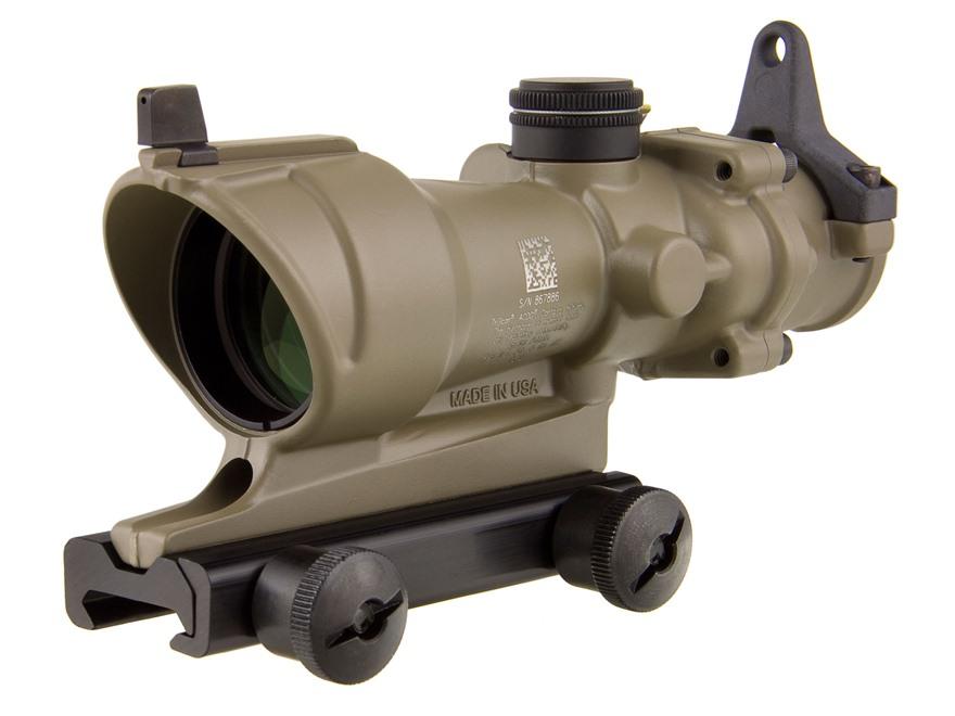 Trijicon ACOG TA01-D Rifle Scope 4x 32mm Tritium Illuminated Amber Crosshair 223 Reming...