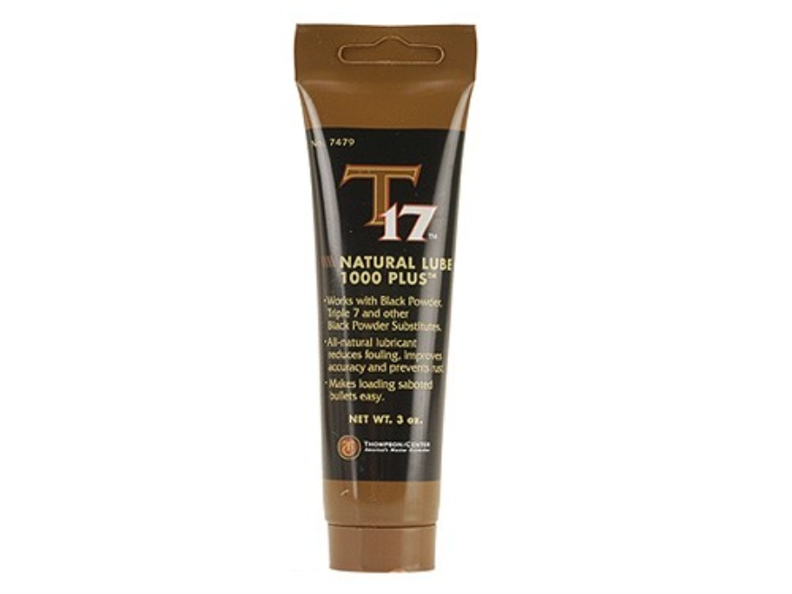 Thompson Center T17 Black Powder Natural Lube 1000 Plus 3 oz Tube