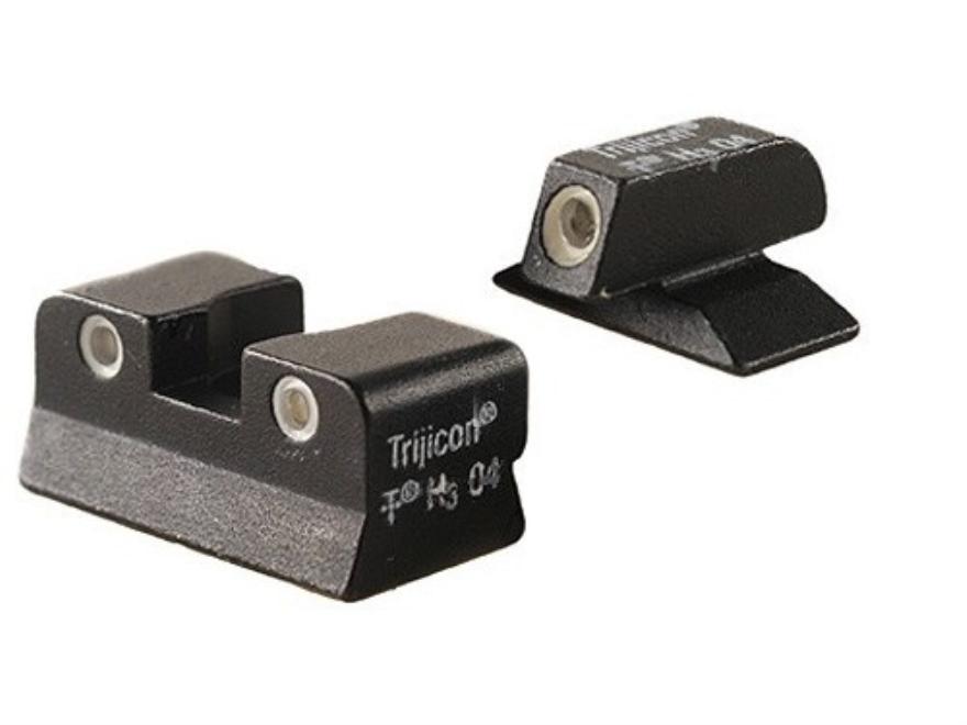 Trijicon Night Sight Set Beretta Cougar Steel Matte 3-Dot Tritium Green Front, Orange Rear