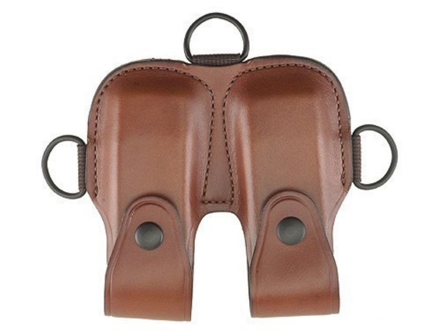 Bianchi X16A Magazine Pouch Glock 17, 19, 20, 21, 22, 23, HK USP 40, 45 Leather Tan