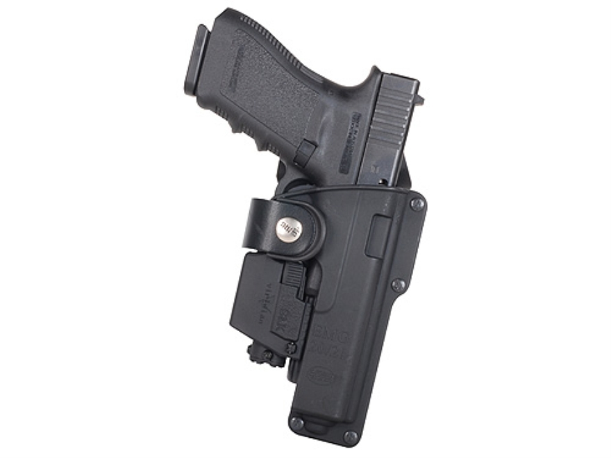 Fobus Tactical Roto-Belt Holster Right Hand Glock 20,21,37 with Light or Laser Polymer ...