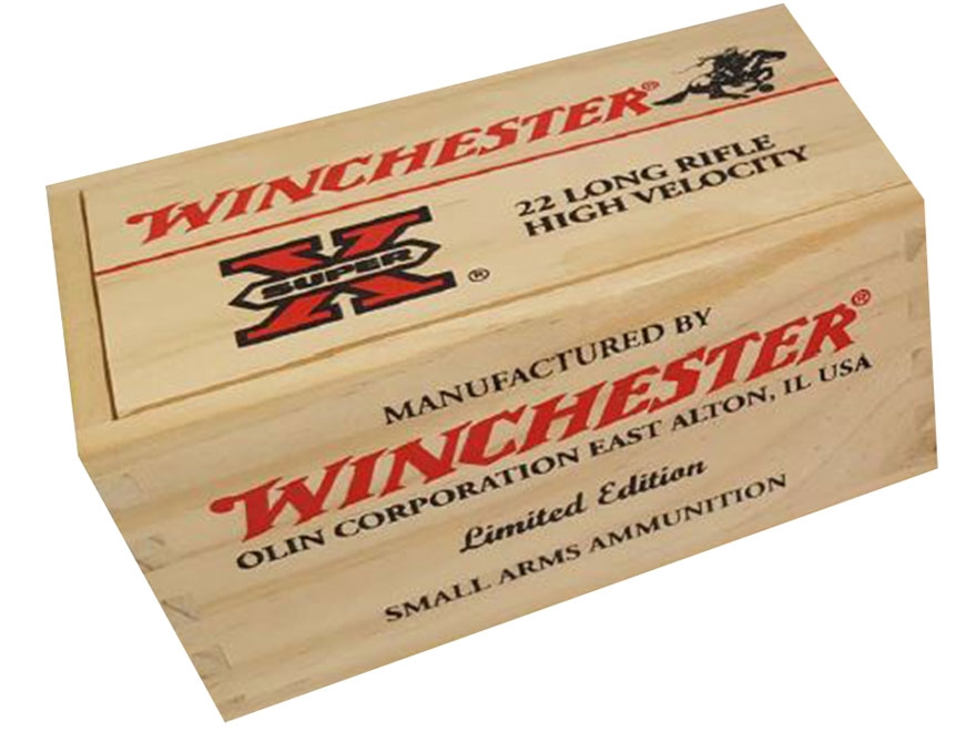 Winchester Super-X Ammunition 22 Long Rifle 36 Grain Copper Plated Hollow Point Limited...
