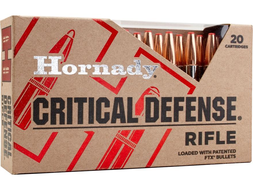 Hornady Critical Defense Ammunition 308 Winchester 155 Grain Flex Tip eXpanding Box of 20