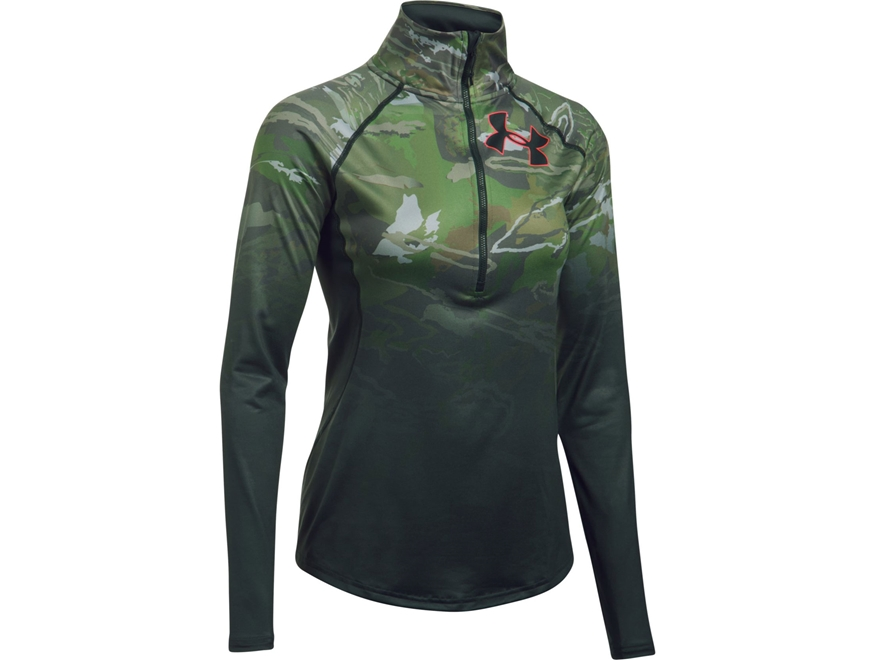Under Armour Women's UA Scent Control Tech 1/4 Zip Shirt Long Sleeve Polyester