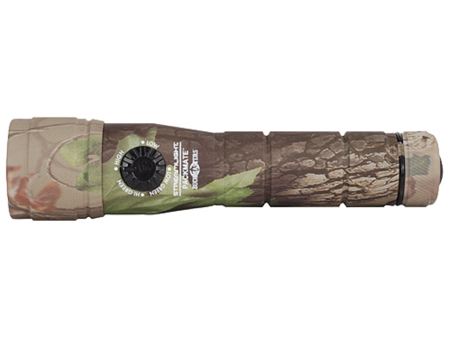 Streamlight Buckmasters Camo Packmate Flashlight LED with 2 CR123A Batteries Aluminum R...
