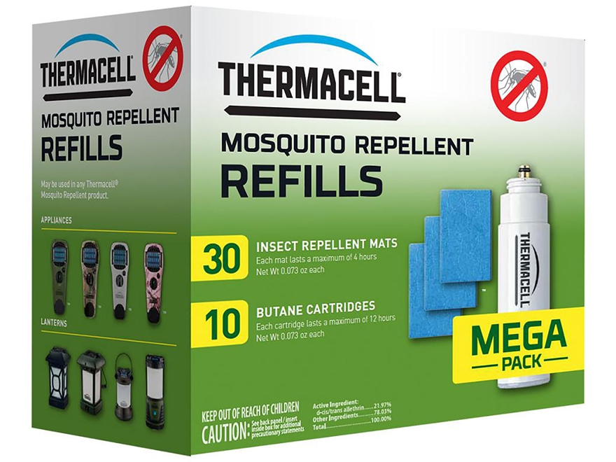 Thermacell Mosquito Repellent Mega Refill Pack (Butane .42 oz Pack of 10 and Repellent ...