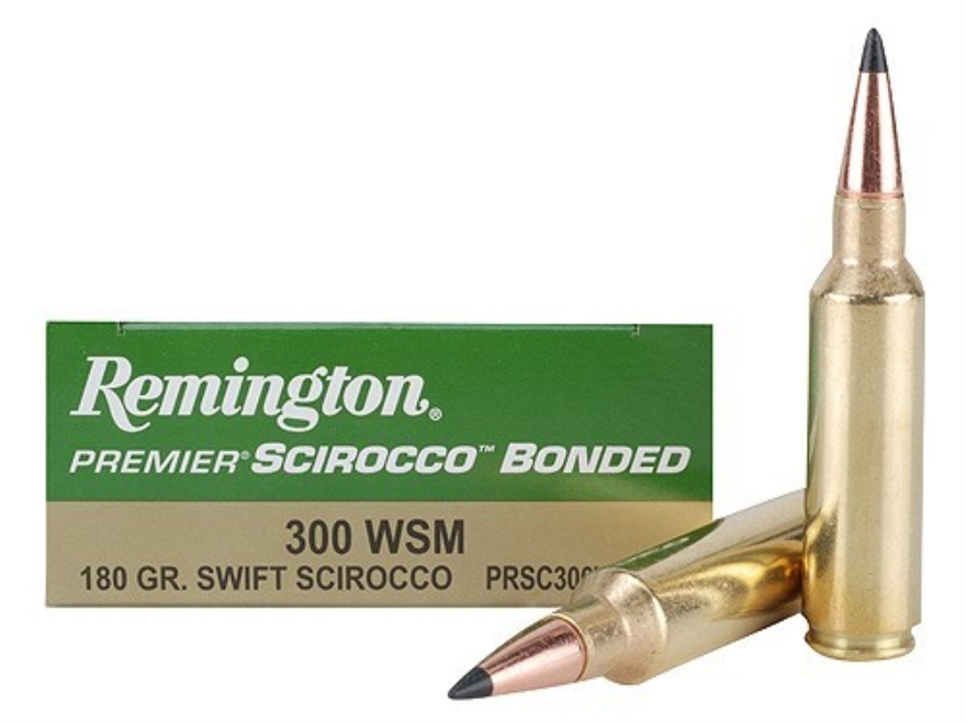 Remington Premier Ammunition 300 Winchester Short Magnum (WSM) 180 Grain Swift Scirocco...