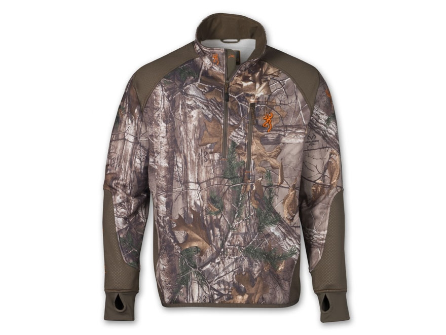 Browning Men's Hell's Canyon Performance Fleece 1/4 Zip Jacket Polyester