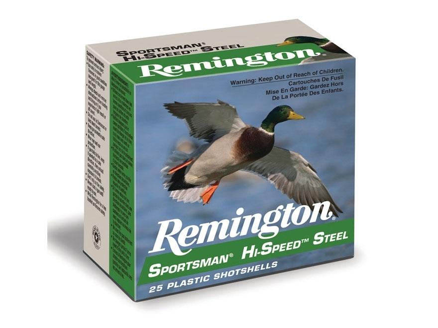 "Remington Sportsman Hi-Speed Ammunition 20 Gauge 3"" 1 oz  #4 Non-Toxic Steel Shot"