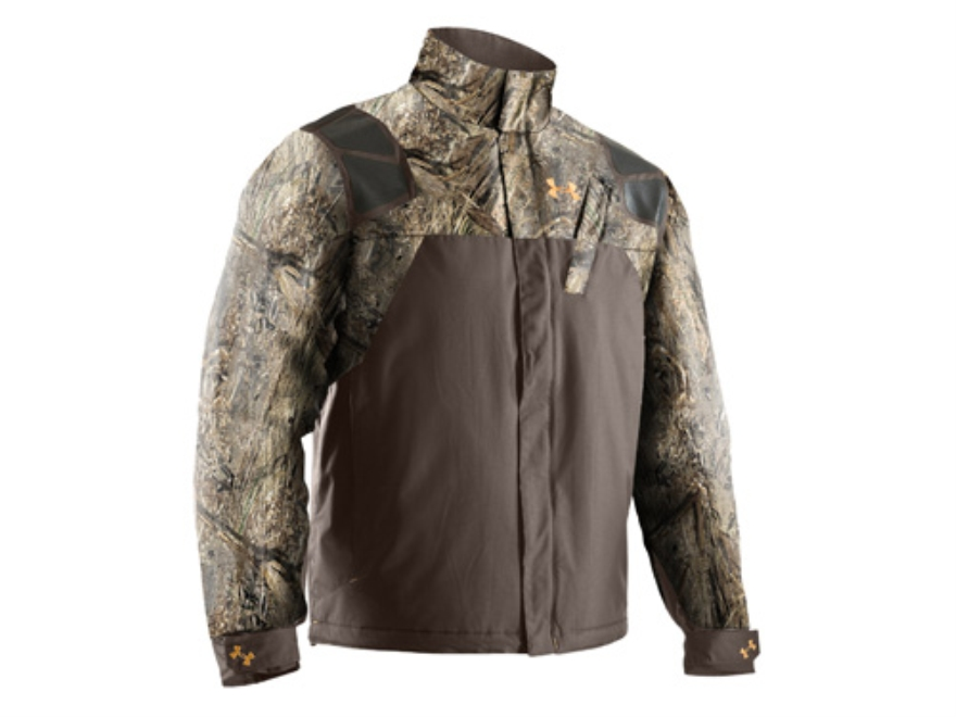 Under Armour Men's SkySweeper Jacket Polyester Mossy Oak Duck Blind Camo Medium 38-40