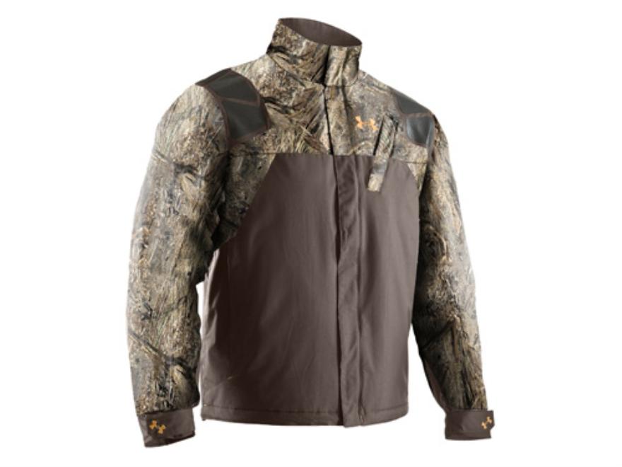 Under Armour Men's SkySweeper Jacket Polyester Mossy Oak Duck Blind Camo Medium 38-40