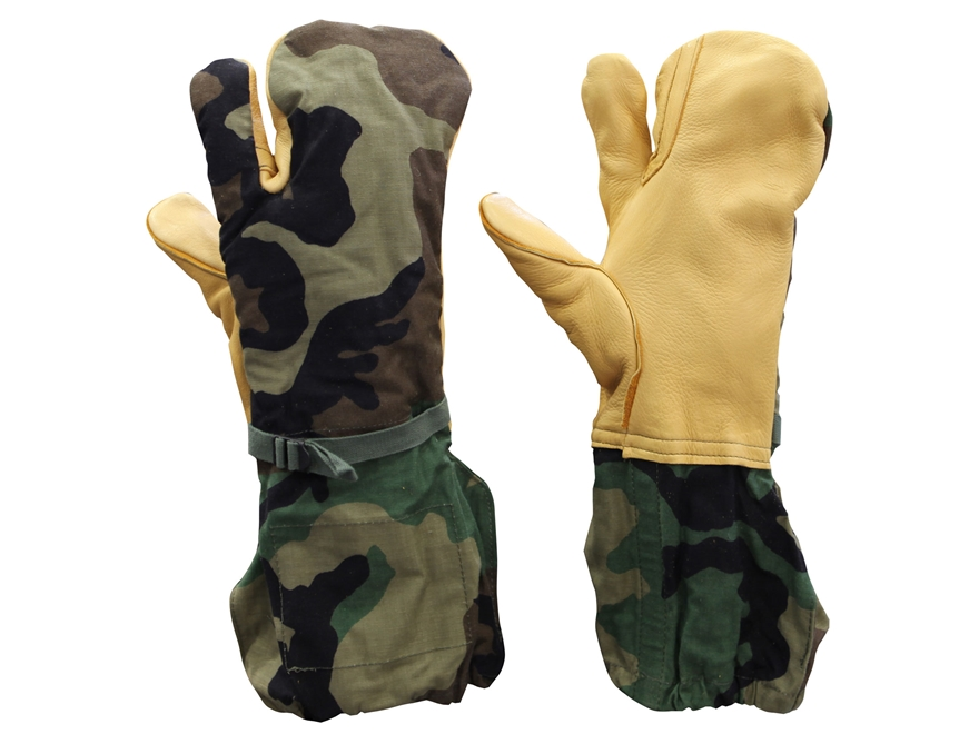 Military Surplus Trigger Finger Mitten Shell with Liners