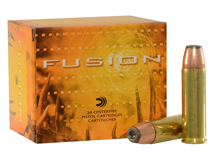 Federal Fusion Ammunition 500 S&W Magnum 325 Grain Jacketed Hollow Point Box of 20