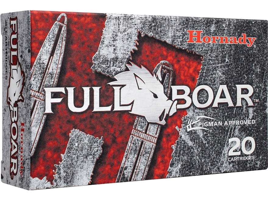 Hornady Full Boar Ammunition 300 AAC Blackout 110 Grain GMX Boat Tail Lead-Free Box of 20