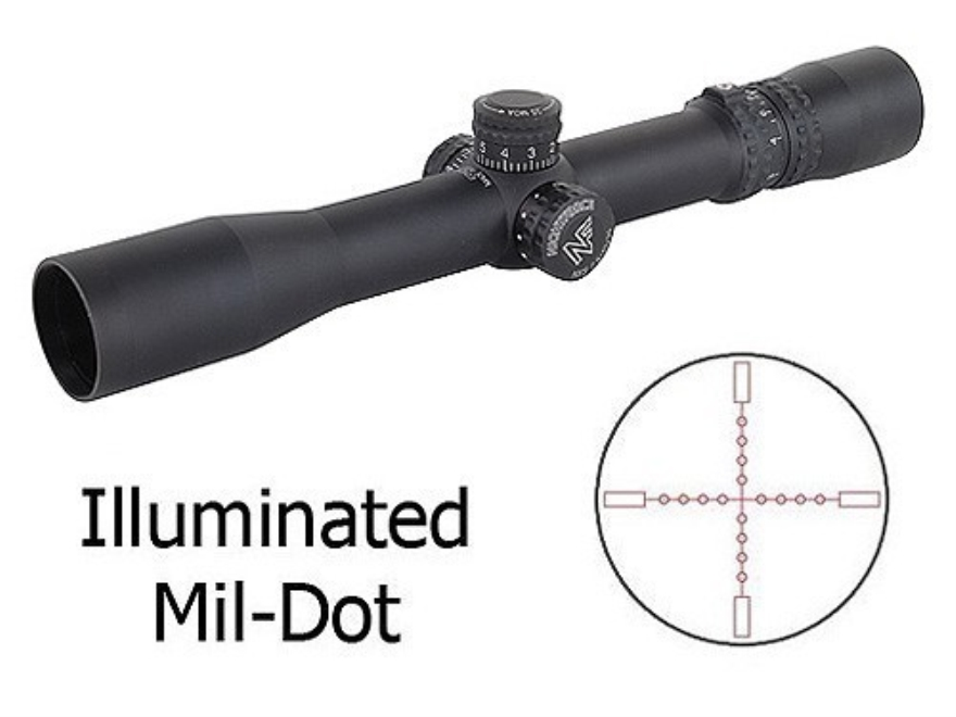 Nightforce NXS Rifle Scope 30mm Tube 2.5-10x 32mm Zero Stop Illuminated Mil-Dot Reticle...
