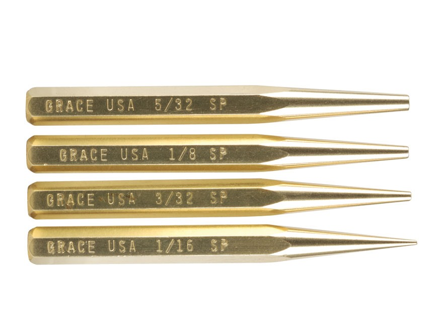 Grace USA Starter Punch Set 4-Piece Brass