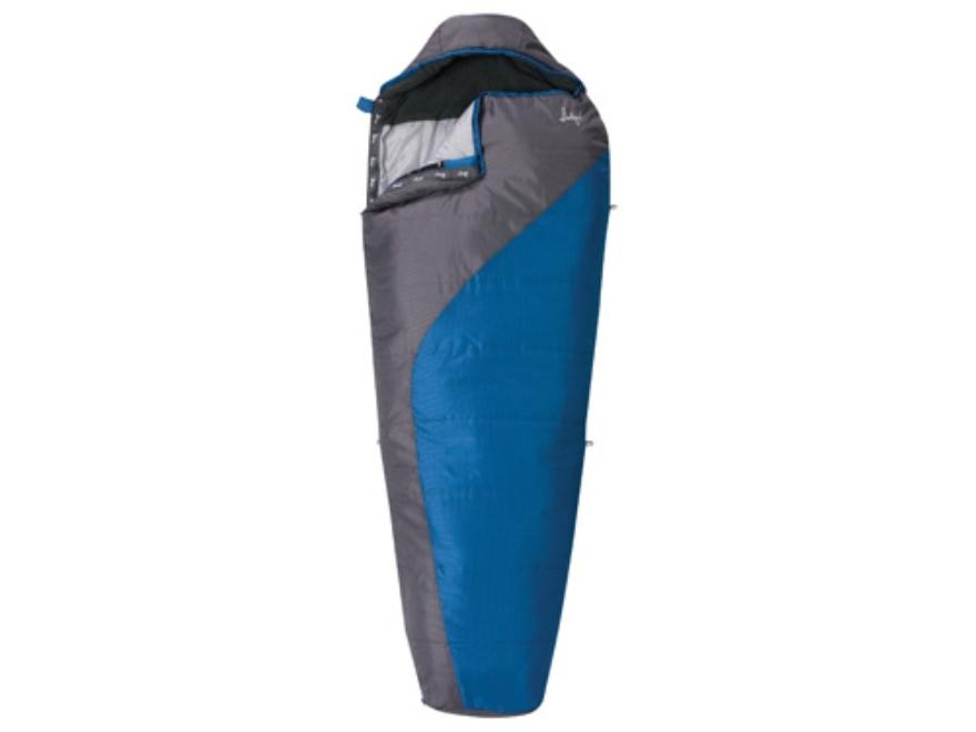 "Slumberjack Lone Pine 40 Degree Mummy Sleeping Bag 31"" x 80"" Polyester Blue and Gray"
