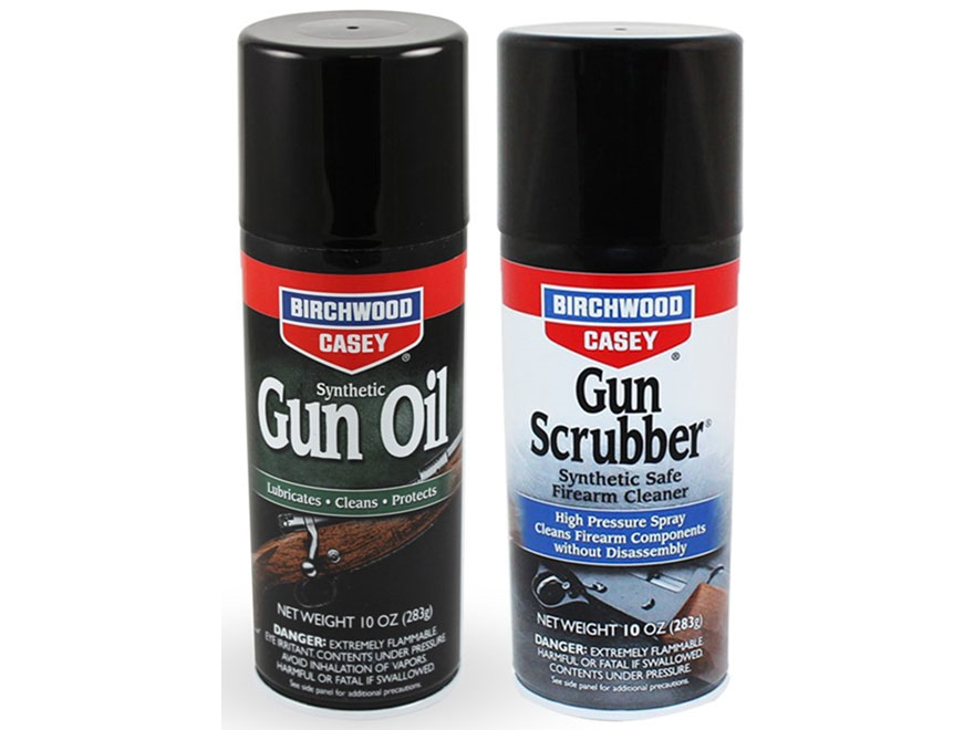 Birchwood Casey Gun Scrubber Synthetic Safe Cleaner and Synthetic Gun Oil Combo Pack 10...