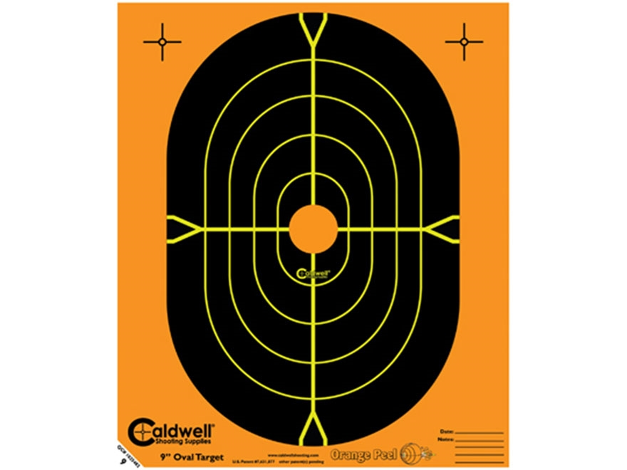 "Caldwell Orange Peel Targets 9"" Self-Adhesive Silhouette Pack of 25"