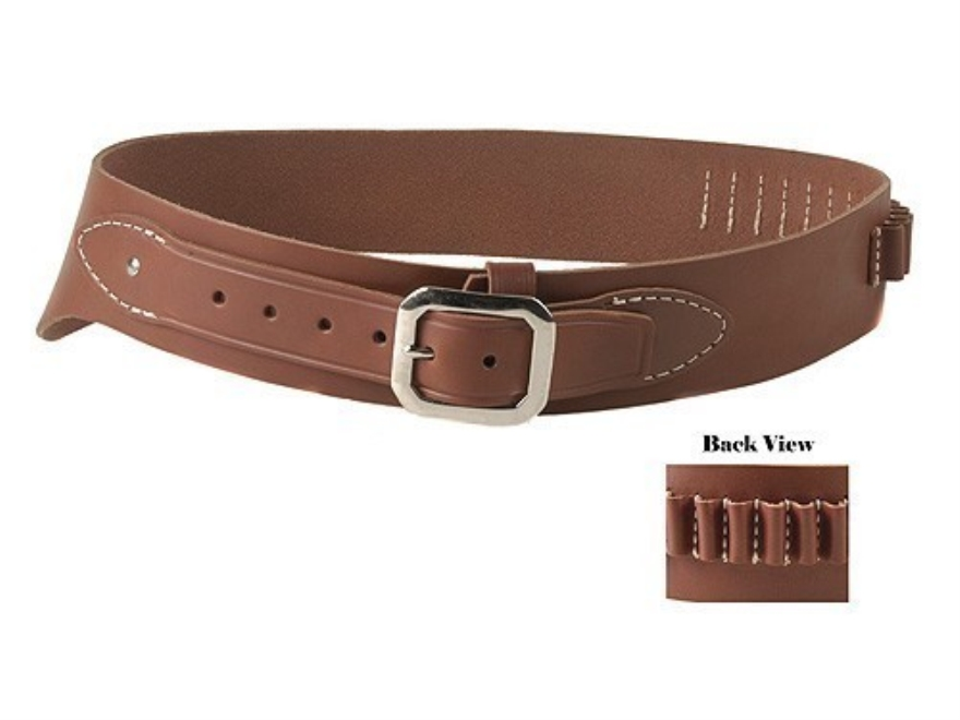 Oklahoma Leather Cowboy Drop-Loop Cartridge Belt 38, 357 Caliber Leather Brown Medium