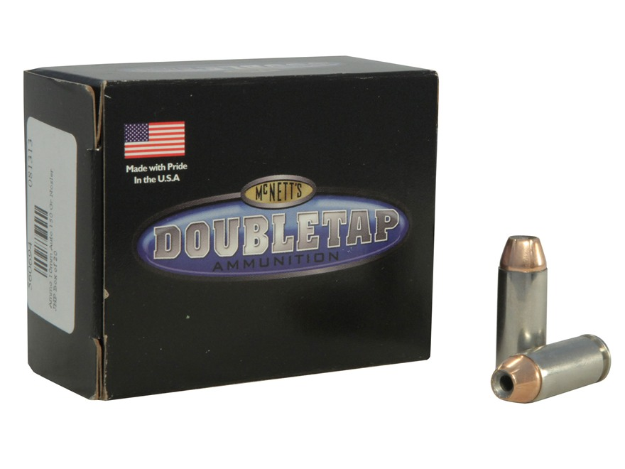 Doubletap Ammunition 10mm Auto 150 Grain Nosler Jacketed Hollow Point