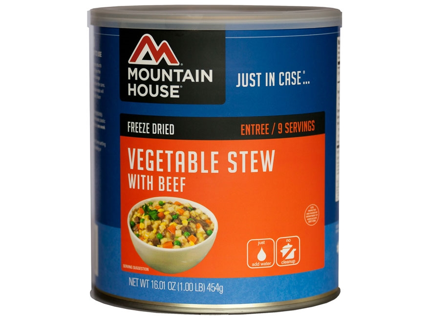 Mountain House 9 Serving Vegetable Stew with Beef Freeze Dried Food #10 Can