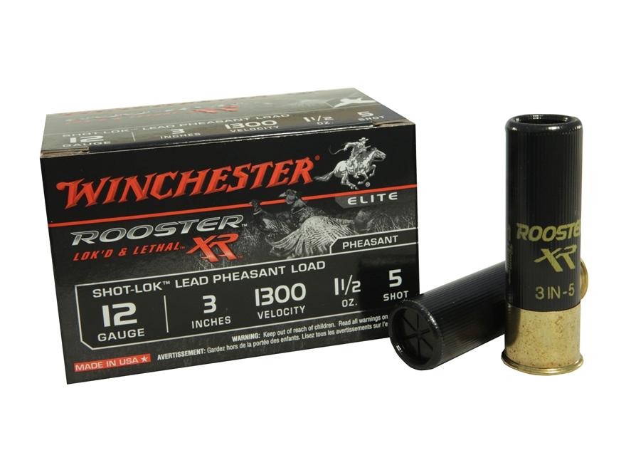 "Winchester Rooster XR Pheasant Ammunition 12 Gauge 3"" 1-1/2 oz #5 Shot-Lok Copper Plate..."