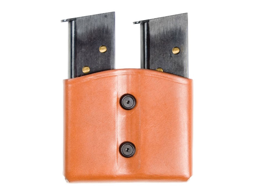 BLACKHAWK! Double Magazine Pouch Double Stack 9mm, 40 S&W Leather